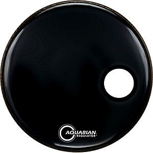 Aquarian-Regulator-Black-Resonant-Kick-Drumhead-Black-20-Inches