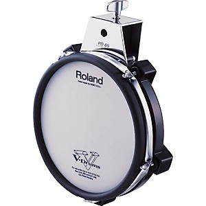Roland-PD-85-Mesh-Dual-Zone-V-Drum-Trigger-Pad-Black-8-Inches