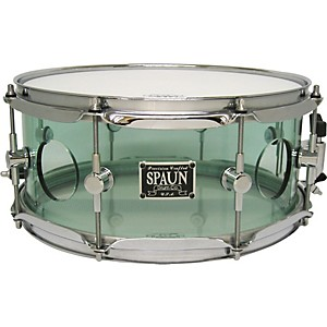 Spaun-Acrylic-Vented-Snare-Drum-Coke-Bottle-5-5x13-Inches