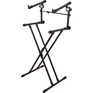 On-Stage-Stands-Deluxe-X-2-Tier-Keyboard-Stand-Standard
