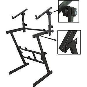 On-Stage-Stands-Folding-Heavy-Duty-Dual-Tier-Z-Stand-Standard