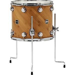 DW-Eco-X-Floor-Tom-Ebony-14-In-x-16-In