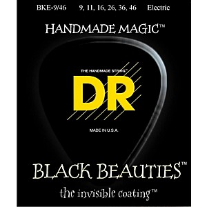DR-Strings-Extra-Life-BKE-9-46-Black-Beauties-Lite-n-Heavy-Coated-Electric-Guitar-Strings-Standard