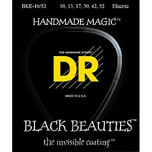 DR-Strings-Black-Beauties-Coated-Electric-Strings-Medium-Heavy--10-52--Standard
