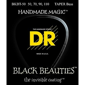 DR-Strings-BLACK-BEAUTIES-Taper-Coated-4-String-Bass-Heavy--50-110--Standard