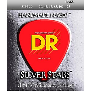 DR-Strings-Silver-Stars-Coated-6-String-Bass-Medium--30-125--Standard