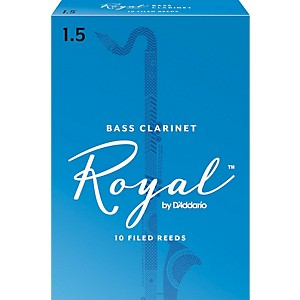 Rico-Royal-Bass-Clarinet-Reeds-Strength-1-5-Box-of-10