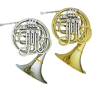 Hans-Hoyer-Myron-Bloom-7802-Bb-F-Double-French-Horn-String-Mechanism-Nickel