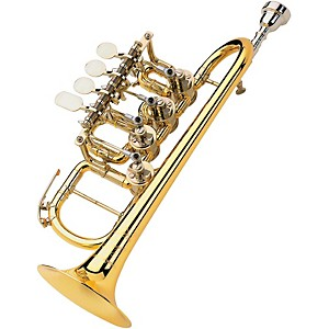 Scherzer-Meister-Johannes-Rotary-Valve-Piccolo-Trumpet-8111---Gold-Brass--Lacquer