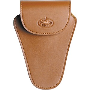 Reunion-Blues-Trombone-Mouthpiece-Pouch-Med-Brown-Leather--Slvr-Hw