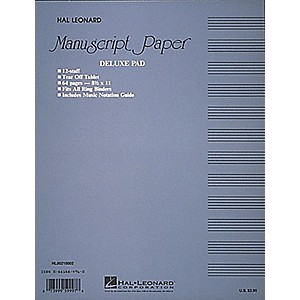 Hal-Leonard-Manuscript-Paper-32-Page-12-Staves-Punched-Printed-Both-Sides