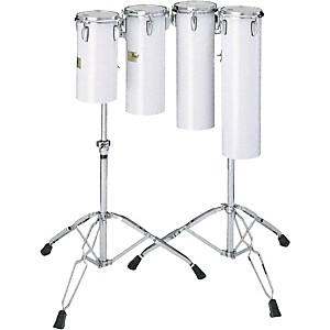 Pearl-Quarter-Tom-Sets-Concert-Drums-6X12-And-6X15-W--Stand-In-Artic-White