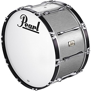 Pearl-20x14-Championship-Series-Marching-Bass-Drum-Brushed-Silver
