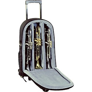 Allora-Super-Triple-Trumpet-Wheelie-Bag-14-WBFSK-Black-Gard-Synthetic-w--Leather-Trim