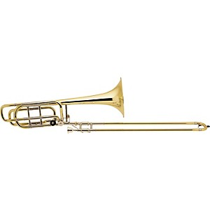 Bach-50A-Series-Bass-Trombone-with-Hagmann-Valve-50A3-Lacquer-9-5-inch-Yellow-Brass-Bell
