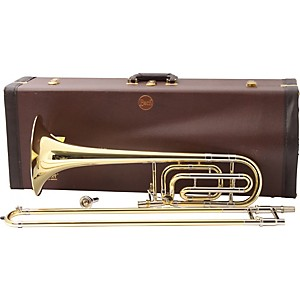 Bach-50B-Series-Professional-Bass-Trombone-50B-Yellow-Brass-Bell-Standard-Wrap