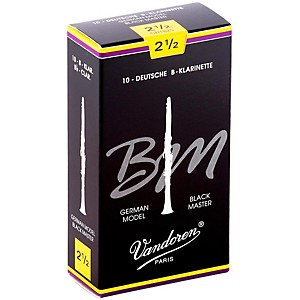 Vandoren-Black-Master-Bb-Clarinet-Reeds-Strength-2-5--Box-of-10