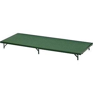 Midwest-Folding-Products-3x6-Single-Height-Portable-Stage---Seated-Riser-8--High--Hardboard-16--High--Gray-Polypropylene