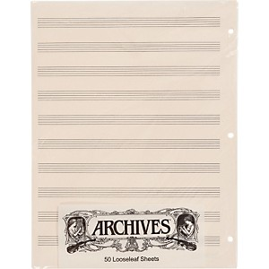Archives-Loose-Leaf-Manuscript-Paper-10-Stave-50-Sheets
