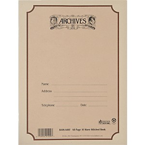 Archives-Standard-Bound-Manuscript-Paper-10-Staves-48-Sheets