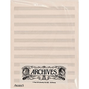 Archives-Archives-10-Stave-50-Sheet-Standard