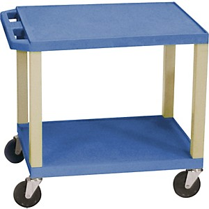 H--Wilson-Tuffy-Plastic-26--2-Shelf-Utility-Cart-26-Blue
