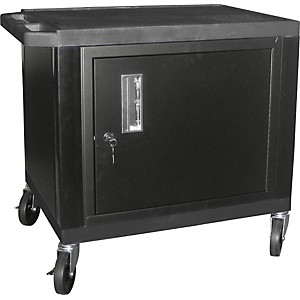 H--Wilson-Tuffy-Plastic-26--2-Shelf-Cart-Cabinet-26-Black