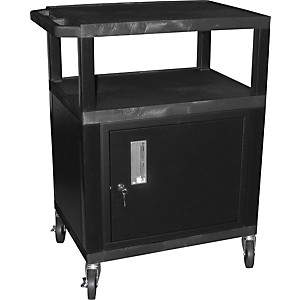 H--Wilson-Tuffy-Plastic-34--3-Shelf-Cart-Cabinet-34-Black