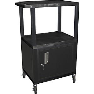 H--Wilson-Tuffy-Plastic-42--3-Shelf-Cart-Cabinet-42-Black