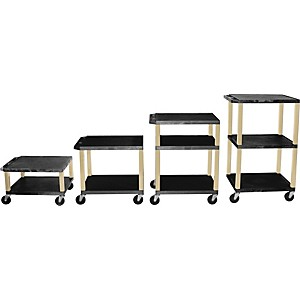 H--Wilson-Tuffy-Plastic-16--to-42--2-Shelf-Cart-Black