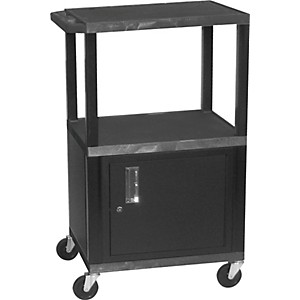 H--Wilson-Tuffy-Plastic-26--to-42--3-Shelf-Cart-Black