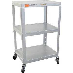 H--Wilson-Metal-26--to-42--3-Shelf-Cart-Black