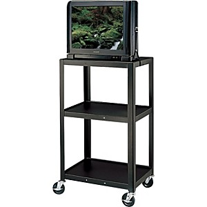 H--Wilson-Metal-42--3-Shelf-Cart-Black