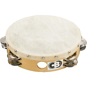CB-Percussion-4034-Double-Row-8--Calf-Skin-Tambourine-8-In