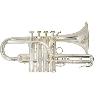 Schilke-Custom-4-Valve-G-Trumpet-with-Tuning-Bell-G1L4-Silver