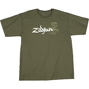 Zildjian-Military-Green-T-Shirt-Extra-Large
