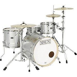 Spaun-3-Piece-Maple-Shell-Pack-Silver-Metallic-W-Chrome-Stripe