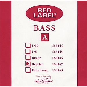 Super-Sensitive-Red-Label-3-4-Size-Double-Bass-Strings-A-String