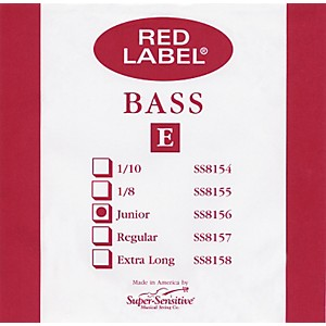 Super-Sensitive-Red-Label-1-4-Size-Double-Bass-Strings-1-4-A-String
