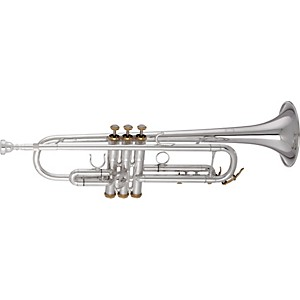Getzen-3001-Series-Artist-Model-Bb-Trumpet-3001-Silver-with-Gold-Trim