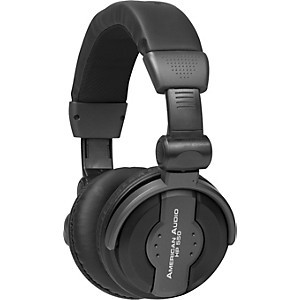 American-Audio-HP550-PROFESSIONAL-STUDIO-HEADPHONES-Black