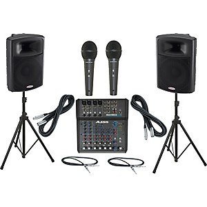 Alesis-Multimix-8-USB-FX---Harbinger-APS15-PA-Package-Standard