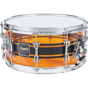 GMS-G28-Acrylic-Snare-Drum-6-5X14-Amber-With-Black