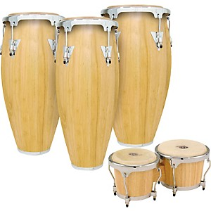 LP-Classic-II-3-Piece-Conga-Set-with-Bongos-Standard