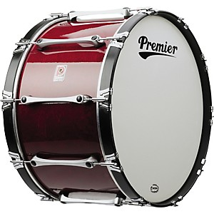 Premier-Revolution-Series-16x14--Marching-Bass-Drum-Ivory-White-Lacquer-16X14
