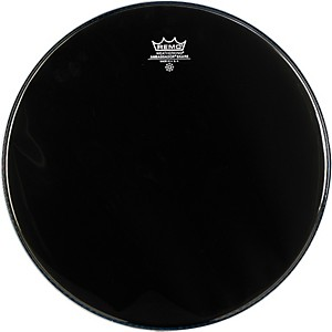 Remo-Ambassador-Snare-Drum-Head-No-Collar-13-Inch-Ebony