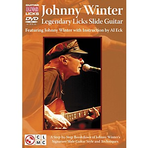 Cherry-Lane-JOHNNY-WINTER-LEGENDARY-LICKS-SLIDE-GUITAR-DVD-Standard