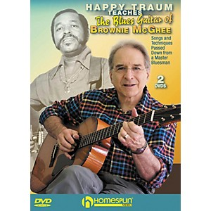 Homespun-HAPPY-TRAUM-TEACHES-THE-BLUES-GUITAR-OF-BROWNIE-MCGHEE--2-DVD-SET--Standard