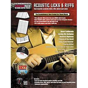 Alfred-Shredhed-Acoustic-Licks---Riffs-Poster-Standard