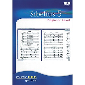Hal-Leonard-Sibelius-5-Beginner-Level---Music-Pro-Guides-Series--DVD--Standard